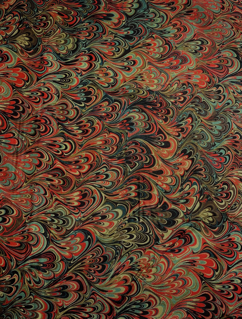 Scarlet Feather Marble 2 - Art of Marbling - by Heather Fletcher for Northcott Cotton Fabric