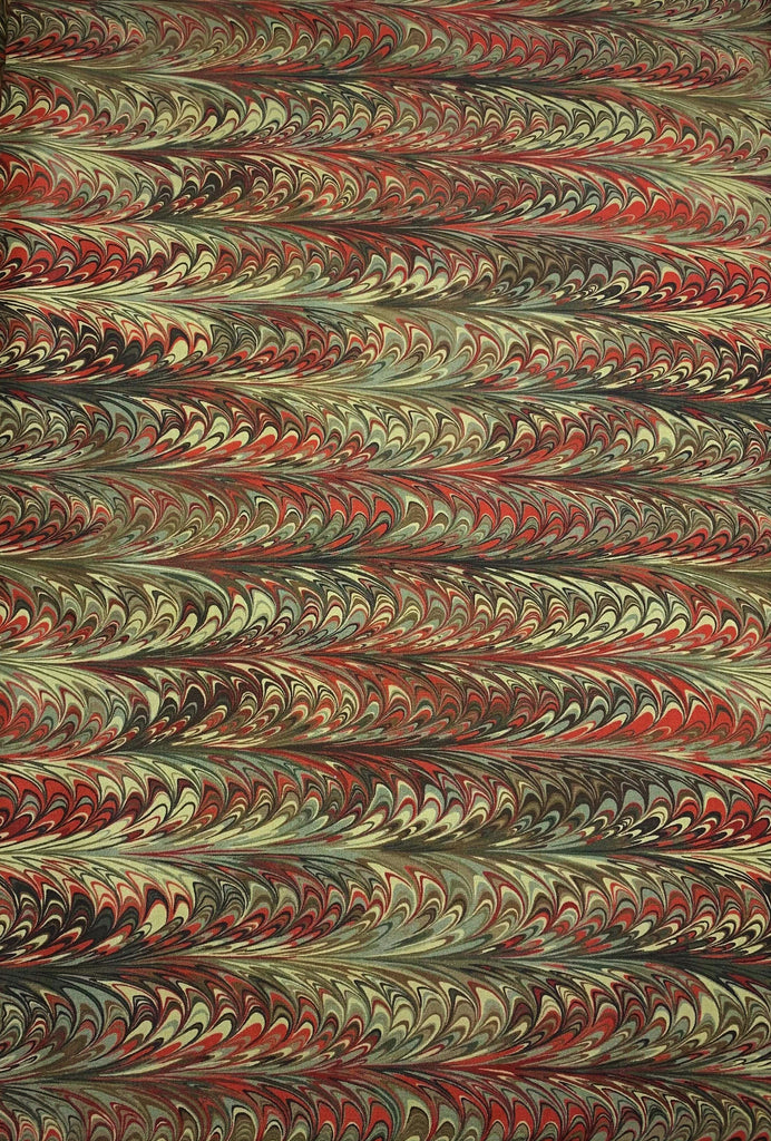 Scarlet Feather Marble 3 - Art of Marbling - by Heather Fletcher for Northcott Cotton Fabric