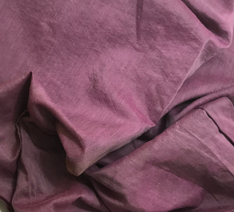 Maroon - Hand Dyed Silk/ Cotton Habotai