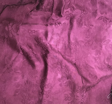 Maroon Floral - Hand Dyed Silk Jacquard