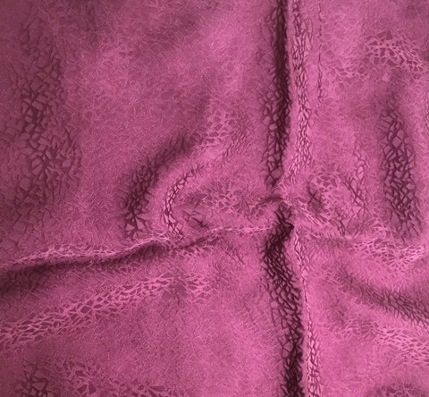 Maroon Pebbles - Hand Dyed Silk Jacquard
