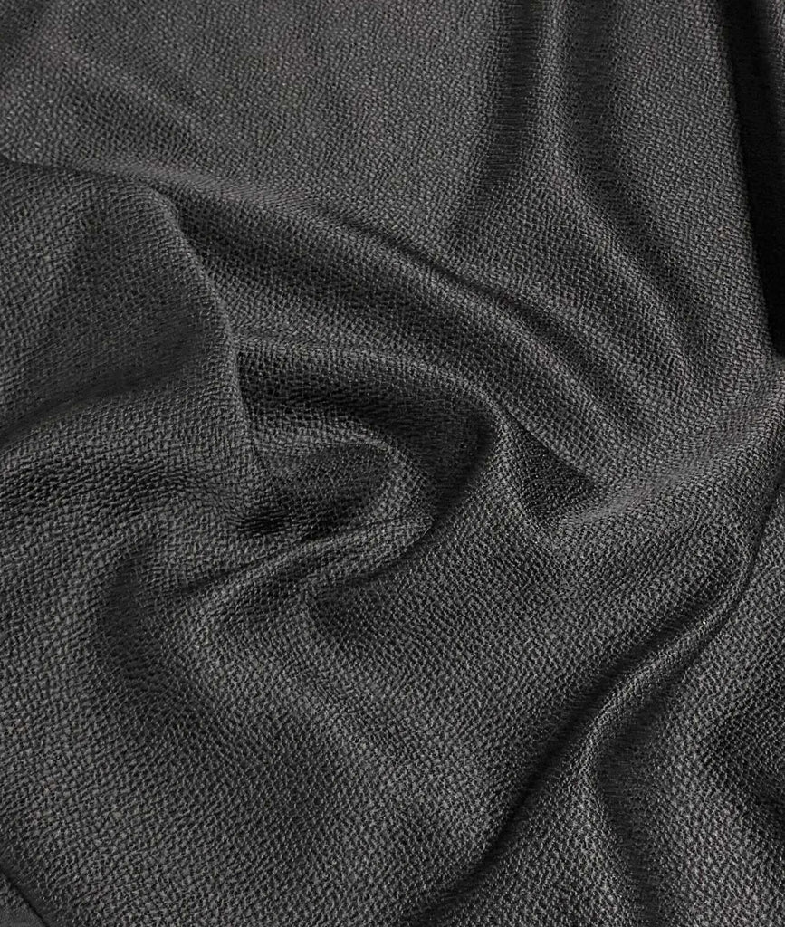 Black Wool/Matelasse Fabric