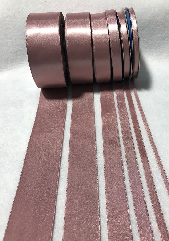 Mauve Double Sided Satin Ribbon - Made in France (7 Widths to choose from)