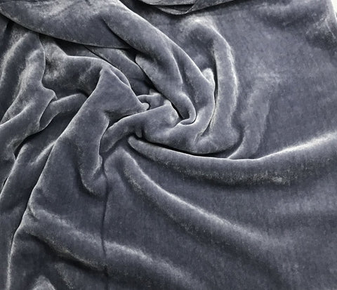 Medium Gray - Hand Dyed Silk Velvet