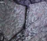 Midnight Blue Floral - Hand Dyed Burnout Devore Silk Satin
