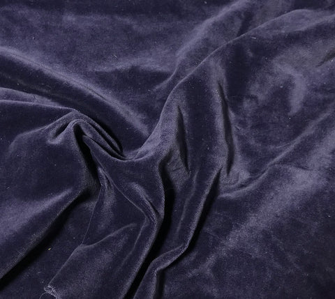 Midnight Blue   - Hand Dyed Cotton Velveteen
