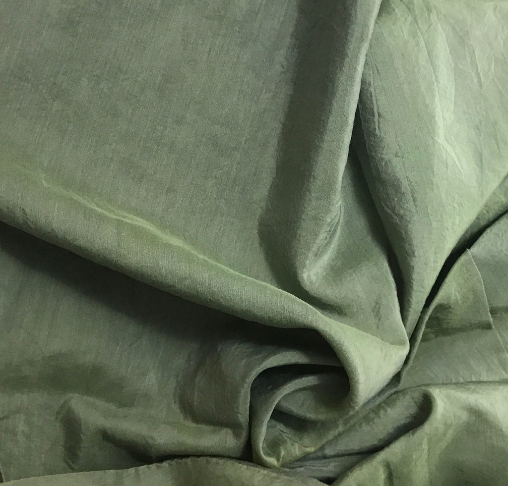 Moss Green - Hand Dyed Silk/ Cotton Habotai