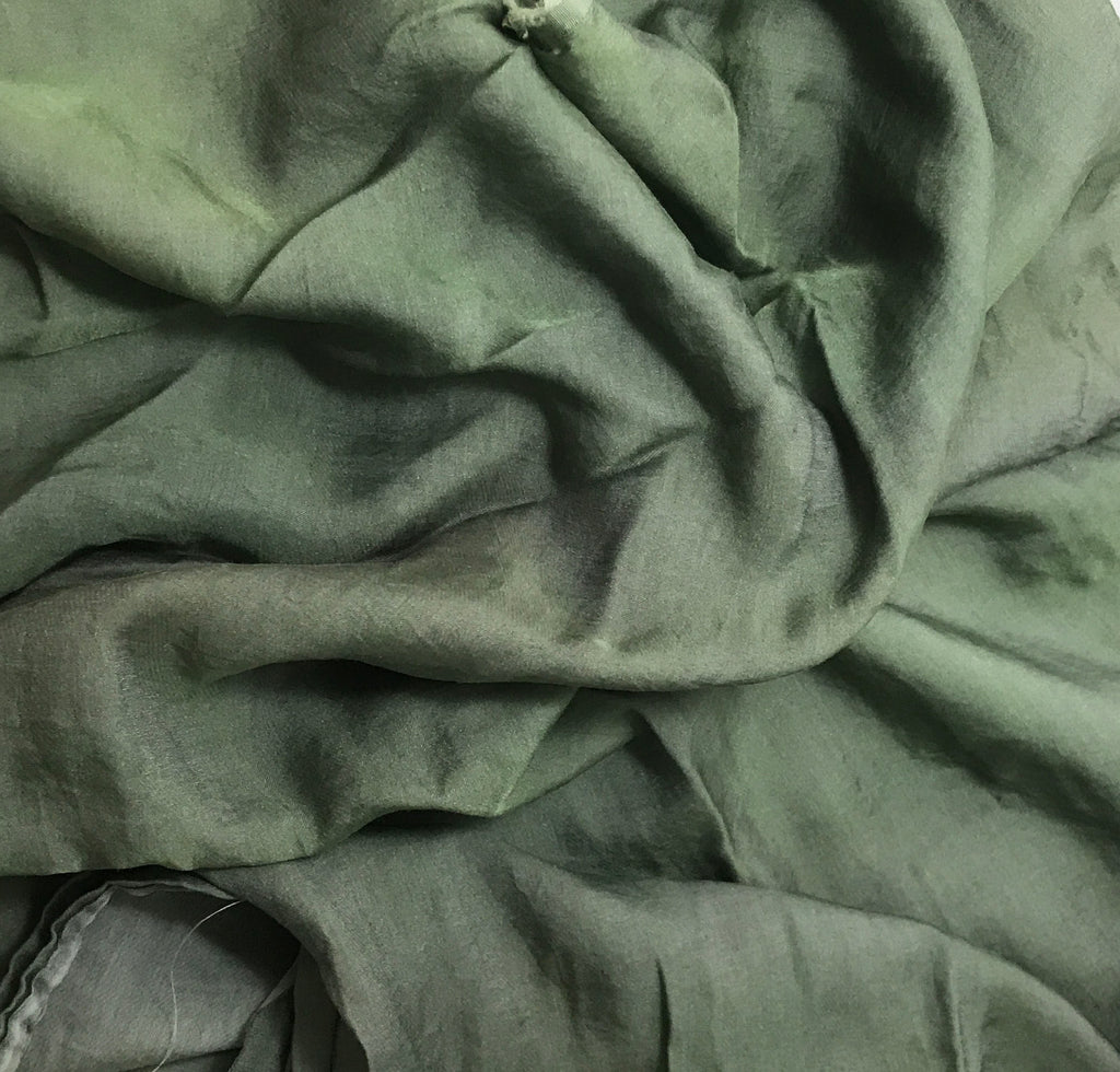 Moss Green - Hand Dyed Silk/Cotton Sateen