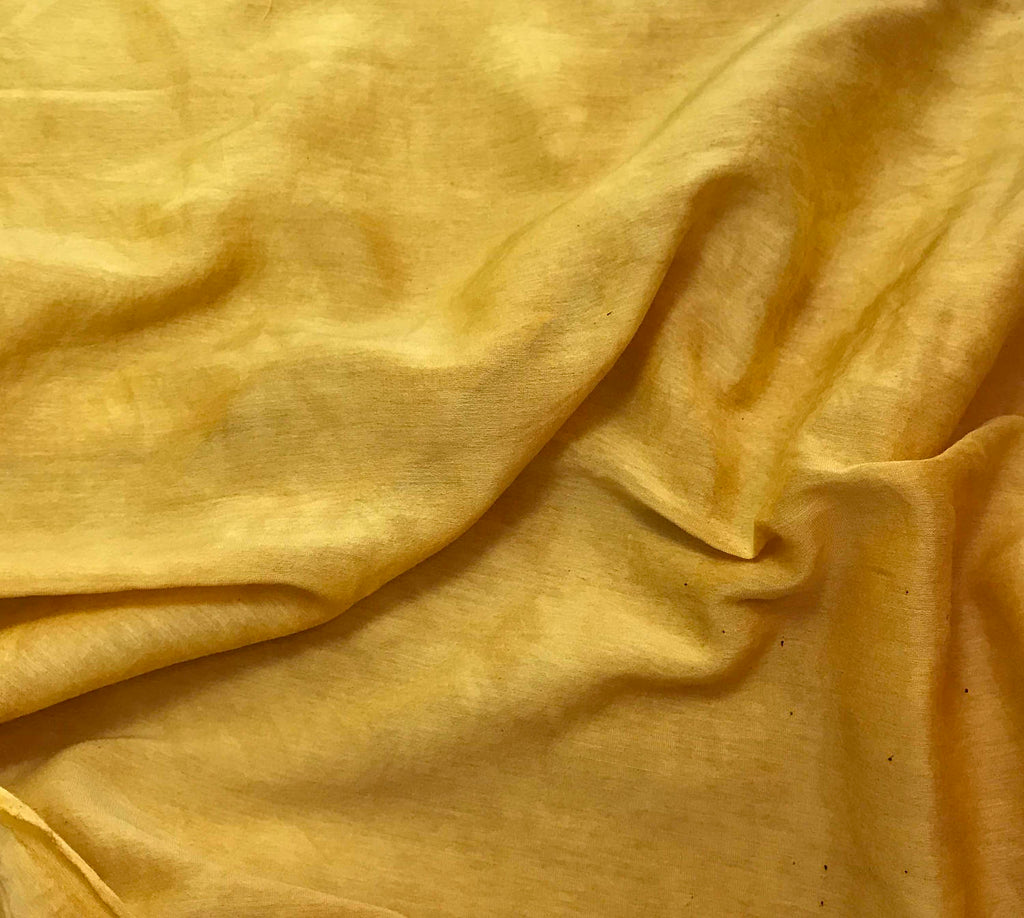 Mustard Yellow - Hand Dyed Silk/Cotton Voile
