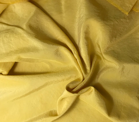 Mustard Yellow - Hand Dyed Silk/ Cotton Habotai