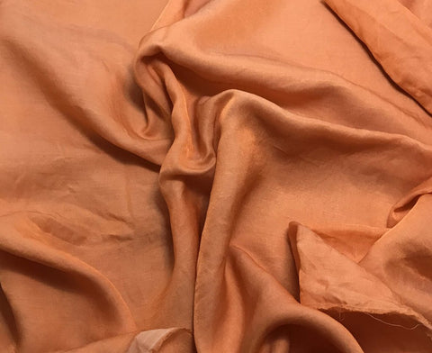 Orange Sherbet - Hand Dyed Silk/Cotton Sateen