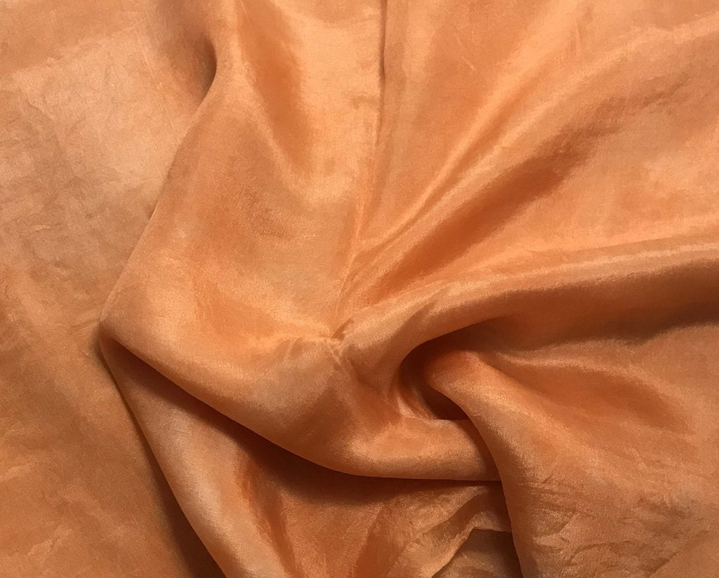 Orange Sherbet - Hand Dyed Silk Habotai