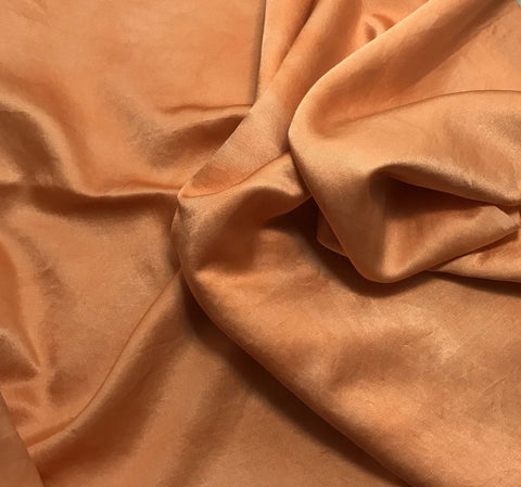 Orange Sherbet - Hand Dyed Silk/Cotton Satin