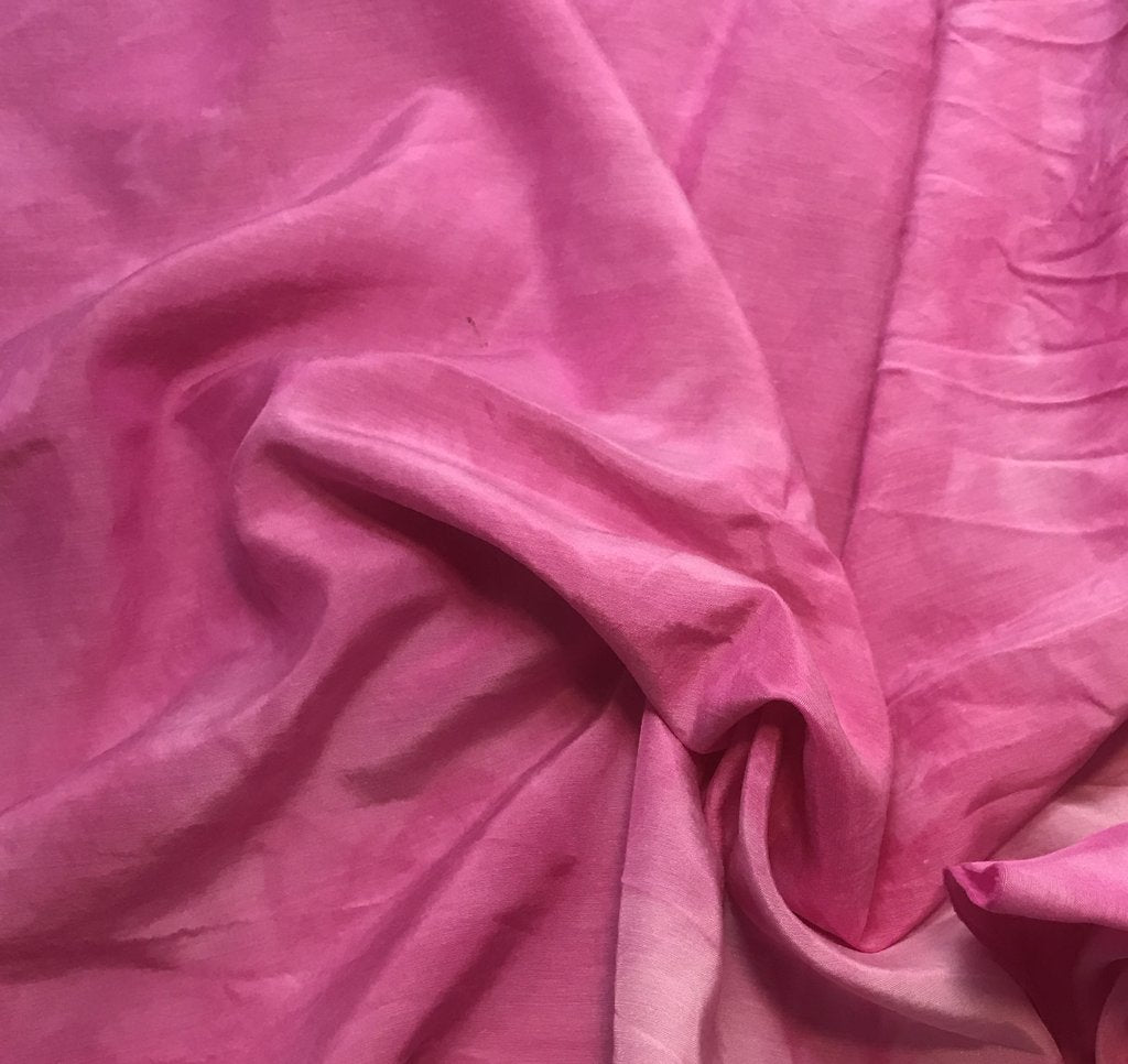 Orchid Pink - Hand Dyed Silk/ Cotton Habotai