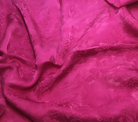 Orchid Pink Floral - Hand Dyed Silk Jacquard