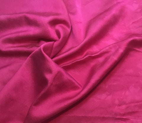 Orchid Pink - Hand Dyed Silk/Cotton Satin