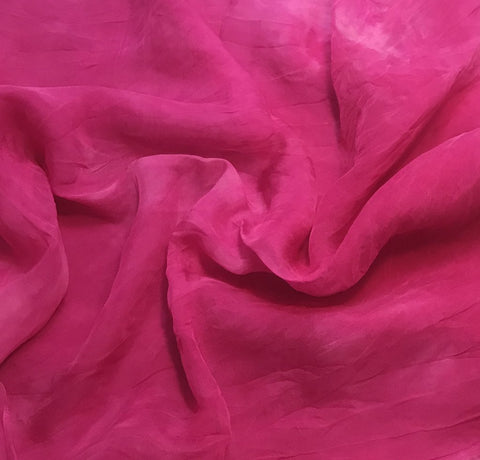 Orchid Pink - Hand Dyed Soft Silk Organza