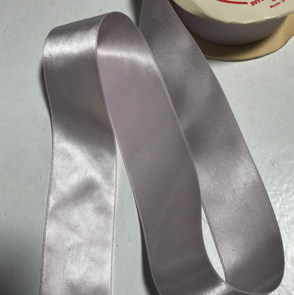 "Orchid Purple 1 1/2"" Vintage Grayblock Double Faced Satin Ribbon"