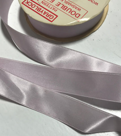 "Orchid Purple 7/8"" Vintage Grayblock Double Faced Satin Ribbon"