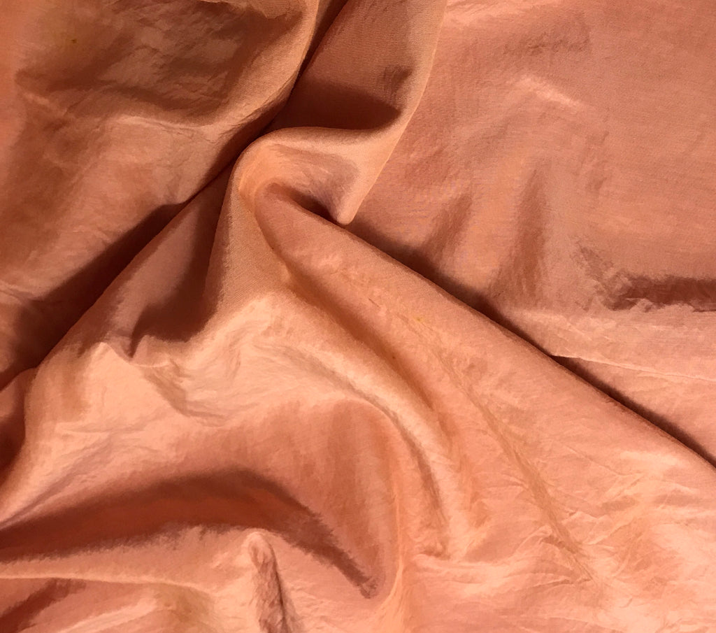 Peach Blush - Hand Dyed Silk/ Cotton Habotai