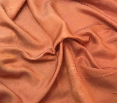 Peach - Hand Dyed Silk/Cotton Sateen