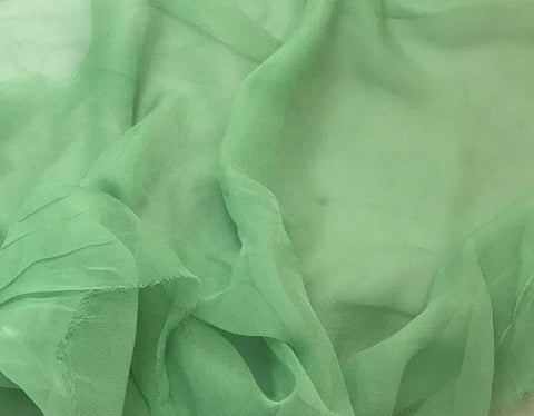 Pear Green - 3mm Hand Dyed Silk Gauze Chiffon