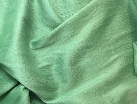 Pear Green - Hand Dyed Silk Dupioni