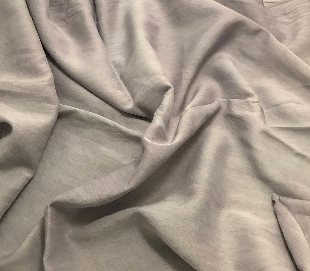 Pearl Gray - Hand Dyed Silk/Cotton Voile