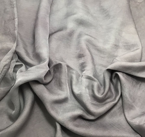 Pearl Gray - Hand Dyed Silk/Cotton Sateen