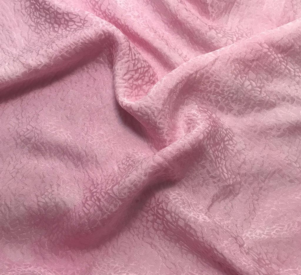Baby Pink Pebbles - Hand Dyed Silk Jacquard