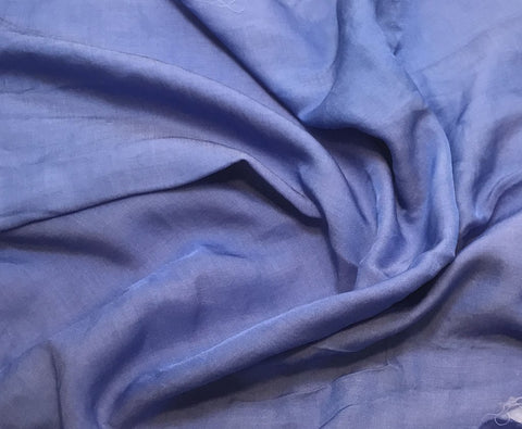 Periwinkle Blue - Hand Dyed Silk/Cotton Sateen