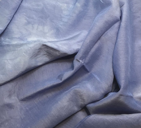 Periwinkle Blue - Hand Dyed Silk/ Cotton Habotai