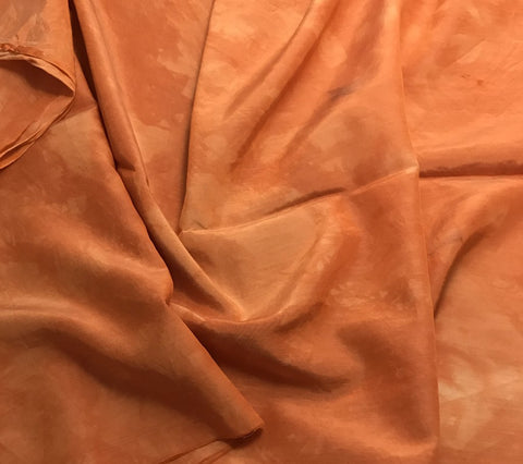 Persimmon Orange - Hand Dyed Silk/ Cotton Habotai