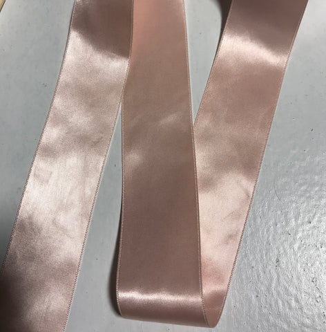 "Pink 1 1/2"" Vintage Grayblock Double Faced Satin Ribbon"