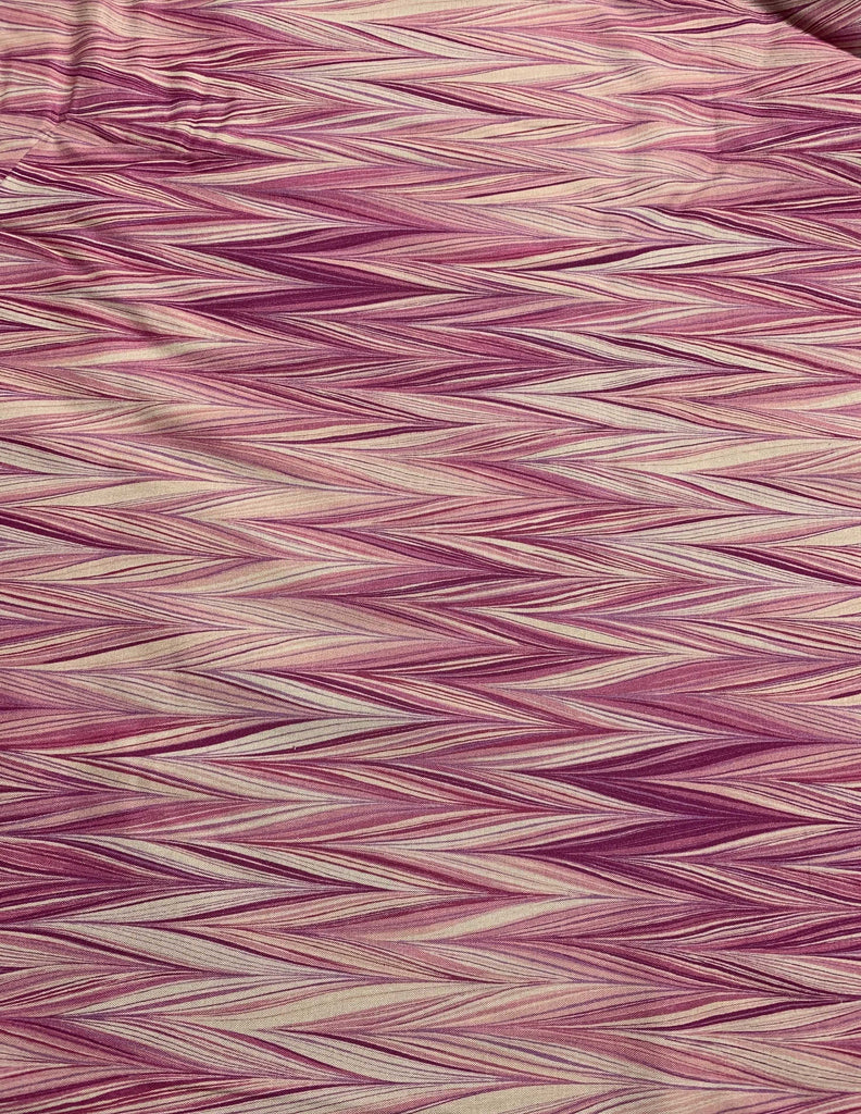 Raspberry Zig Zag Stripes - Art of Marbling - by Heather Fletcher for Northcott Cotton Fabric