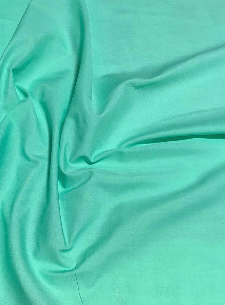 Mint Green - Polyester/Cotton Broadcloth Fabric