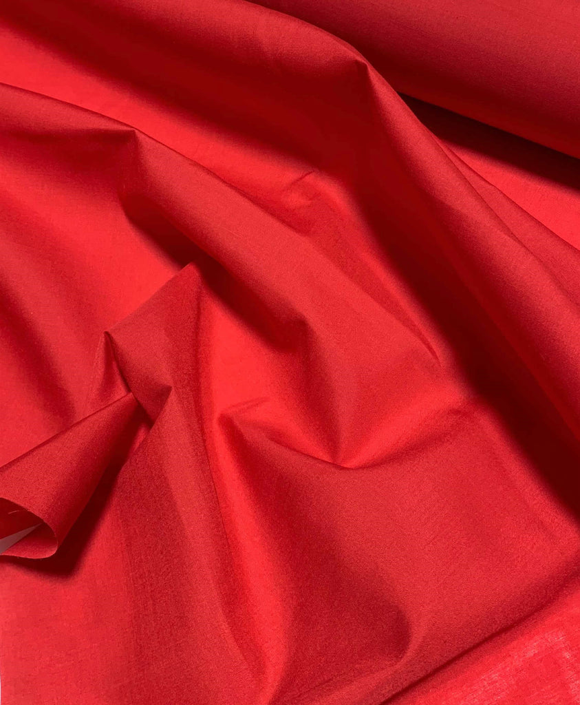 Red - Polyester/Cotton Broadcloth Fabric