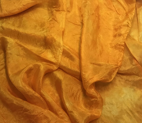 Poppy Orange - Hand Dyed Silk Habotai