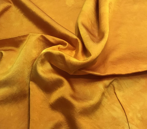 Poppy Orange  - Hand Dyed Silk/Cotton Satin
