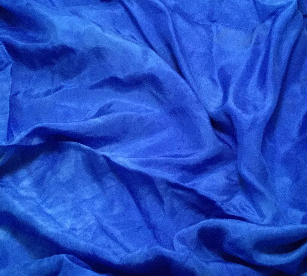 Primary Blue - Hand Dyed Silk Habotai