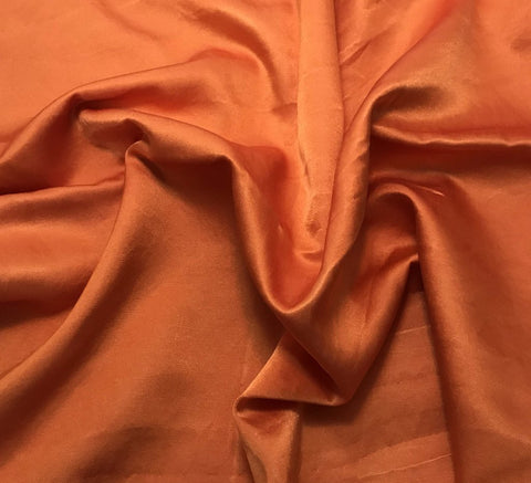 Pumpkin Orange   - Hand Dyed Silk/Cotton Satin