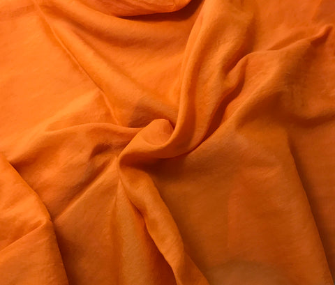 Pumpkin Orange - Hand Dyed Silk/Cotton Voile