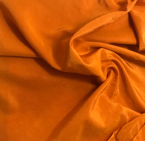 Pumpkin Orange - Hand Dyed Silk/ Cotton Habotai