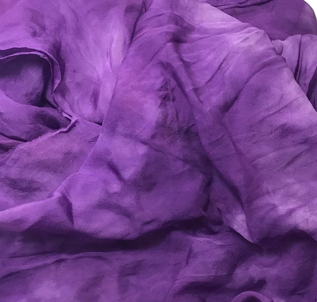 Purple - Hand Dyed Soft Silk Organza