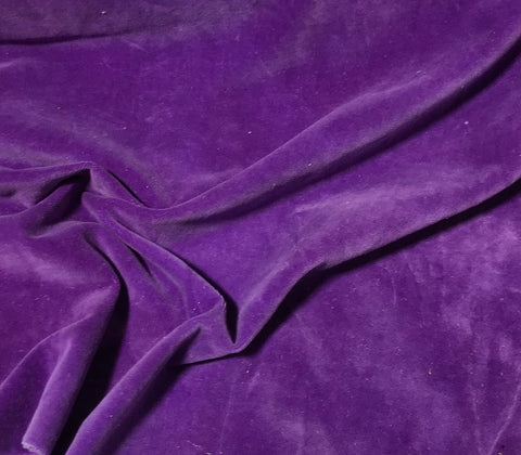 Purple  - Hand Dyed Cotton Velveteen