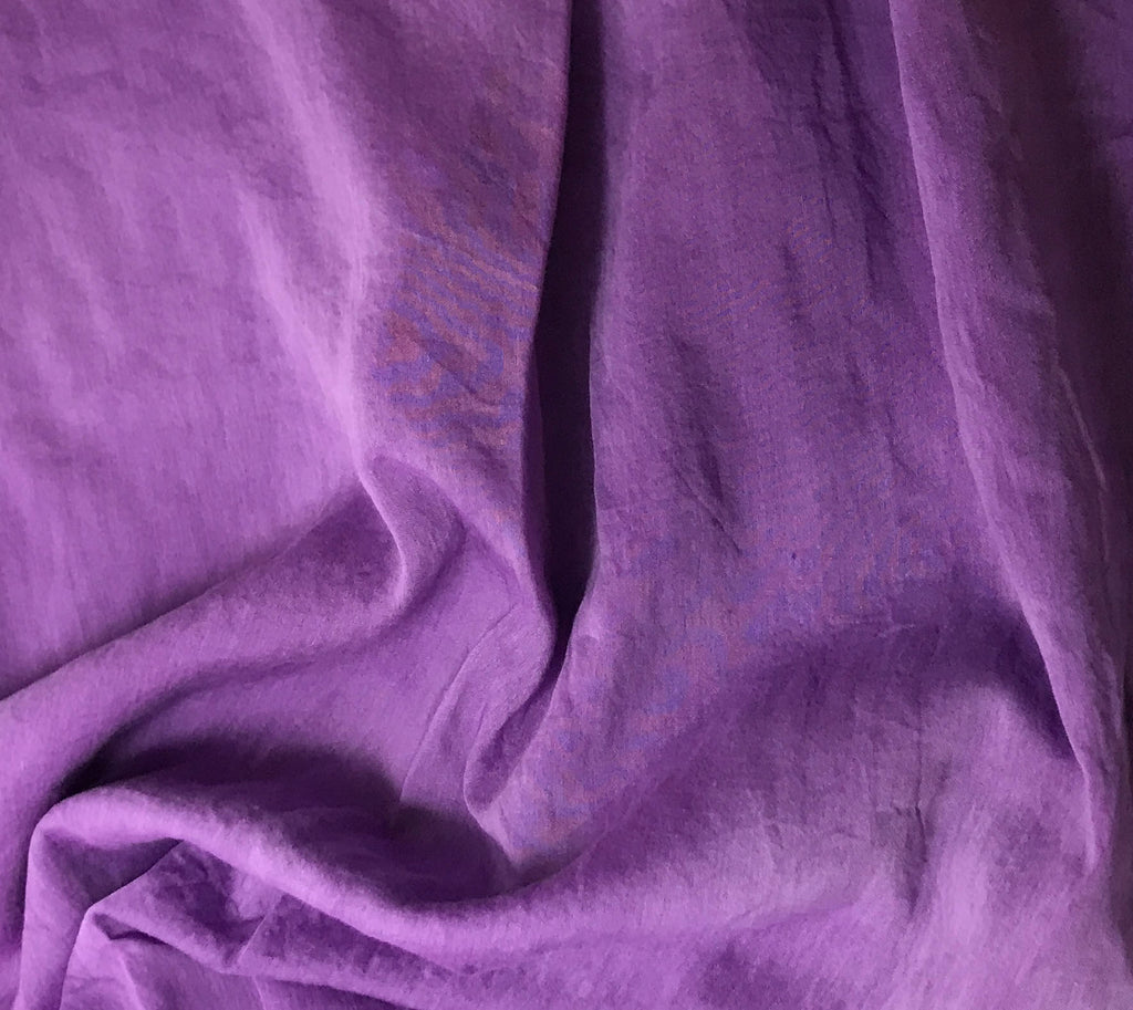 Purple - Hand Dyed Silk/Cotton Voile