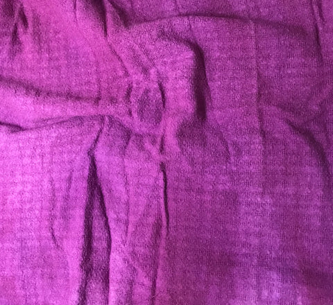 "Purple - Hand Dyed Checkered Weave Silk Noil (54"")"