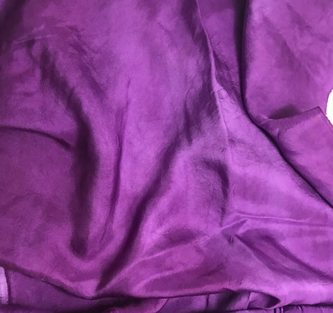 Purple - Hand Dyed Silk Twill