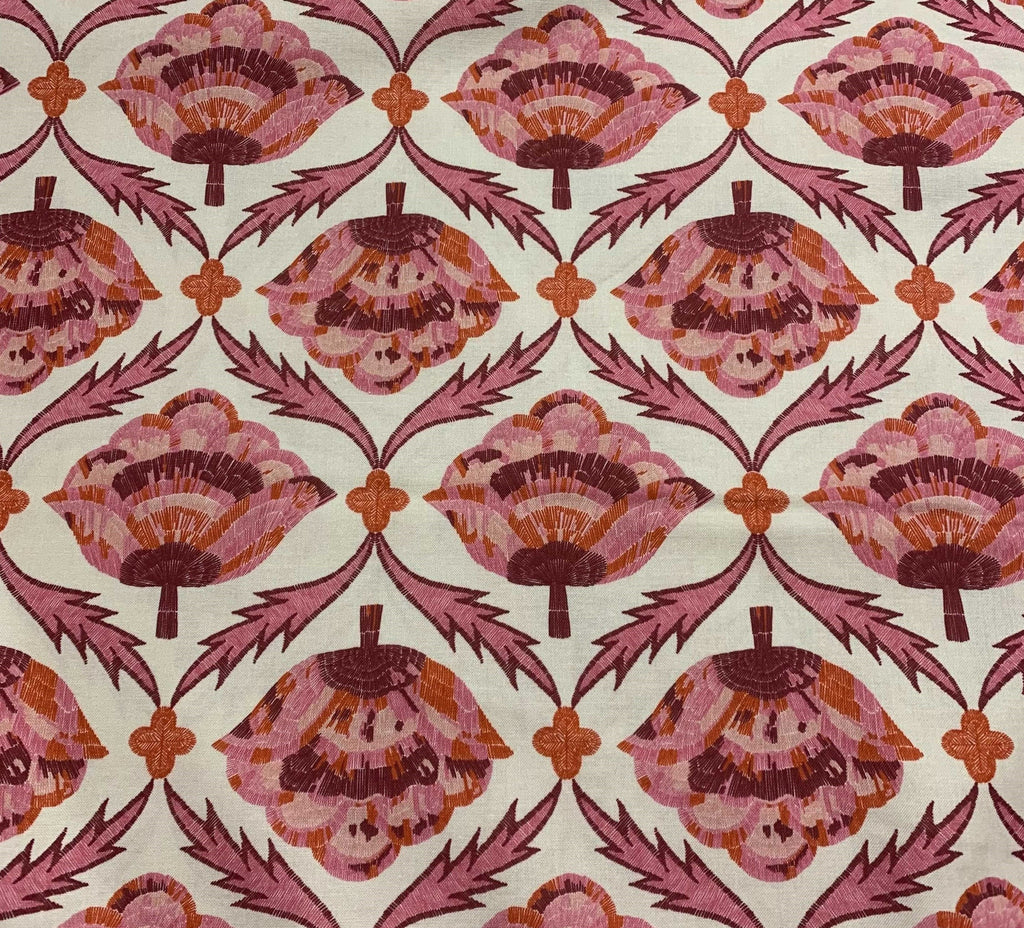 Burgundy Multi Embroider Bloom - Glasshouse - by Emily Taylor for Figo 100% Cotton Fabric