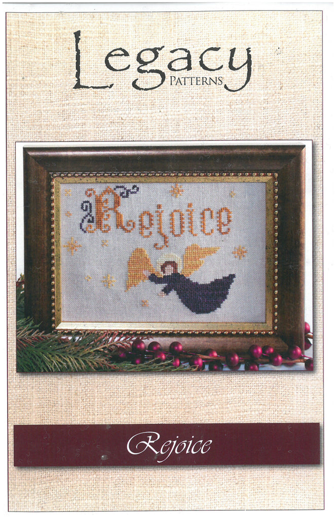 Rejoice Angel Embroidery Pattern - Legacy Patterns